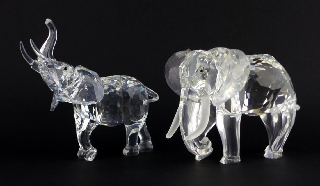 2pc SWAROVSKI CRYSTAL ELEPHANT FIGURES - 3
