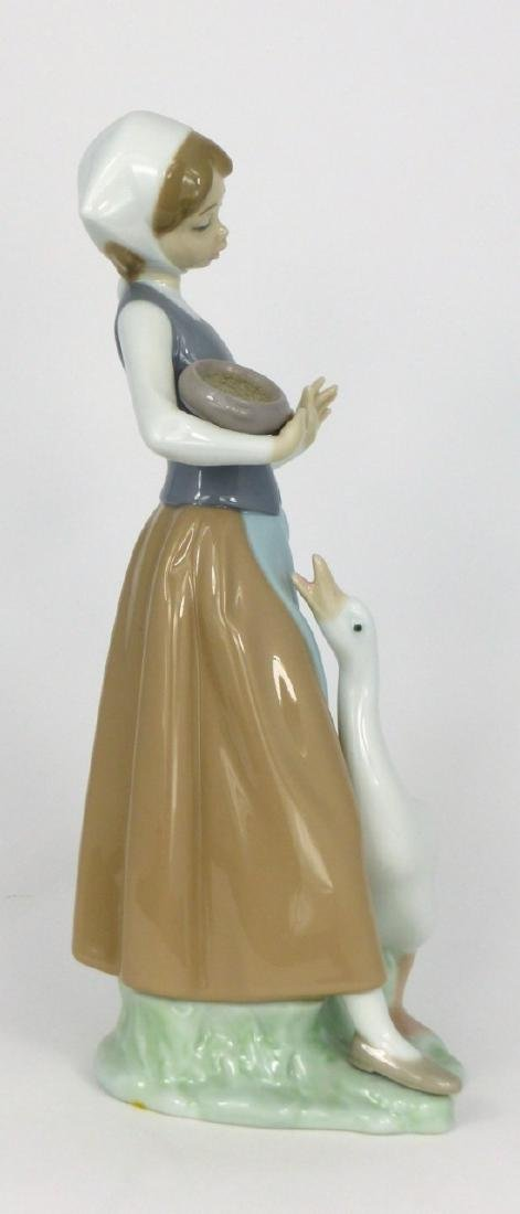 LLADRO 'GIRL WITH DUCK' PORCELAIN FIGURINE - 2