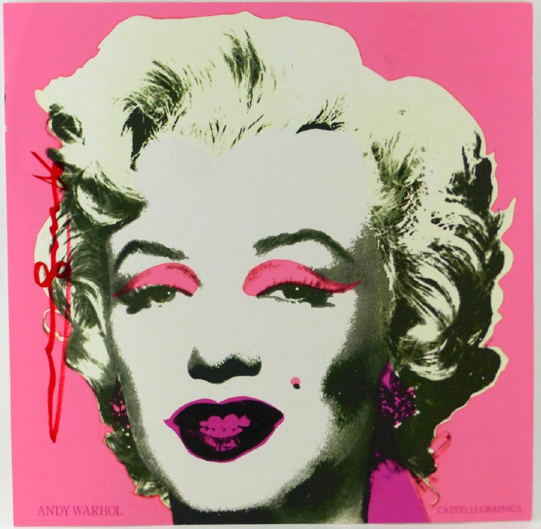 ANDY WARHOL 'MARILYN' ANNOUNCEMENT SIGNED