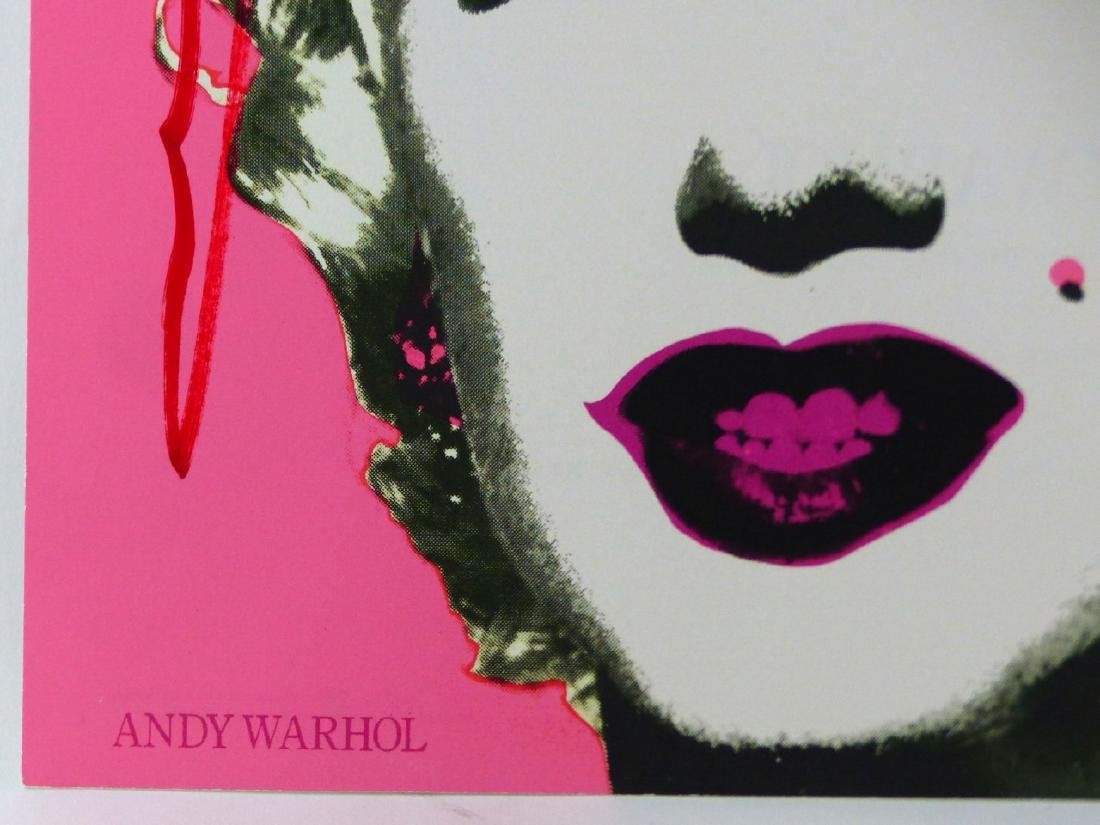 ANDY WARHOL 'MARILYN' ANNOUNCEMENT SIGNED - 4