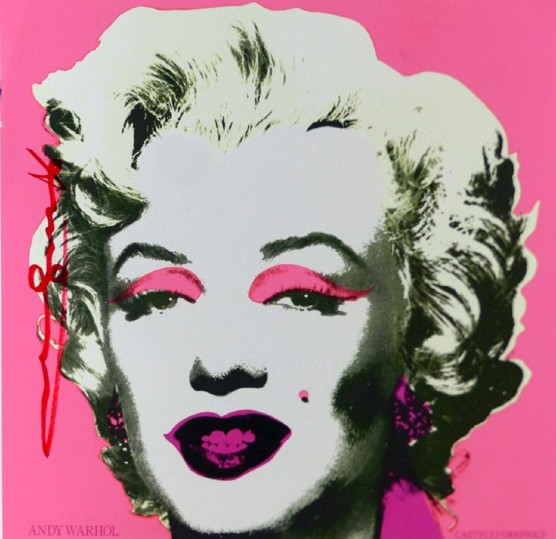 ANDY WARHOL 'MARILYN' ANNOUNCEMENT SIGNED - 5
