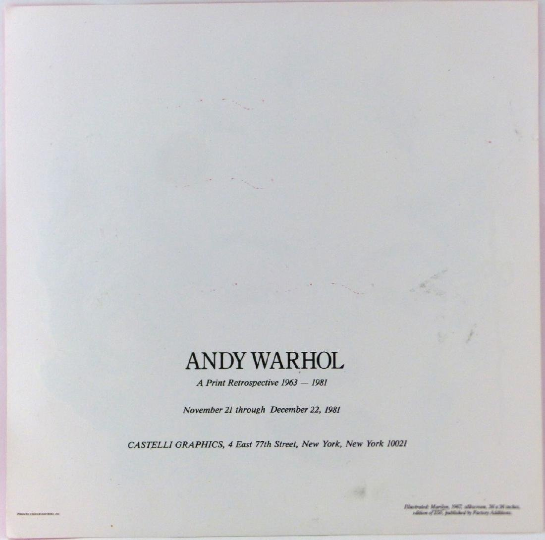 ANDY WARHOL 'MARILYN' ANNOUNCEMENT SIGNED - 6