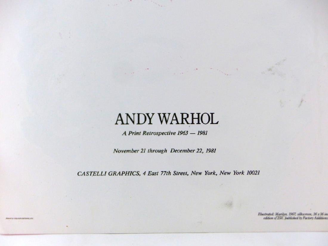 ANDY WARHOL 'MARILYN' ANNOUNCEMENT SIGNED - 7