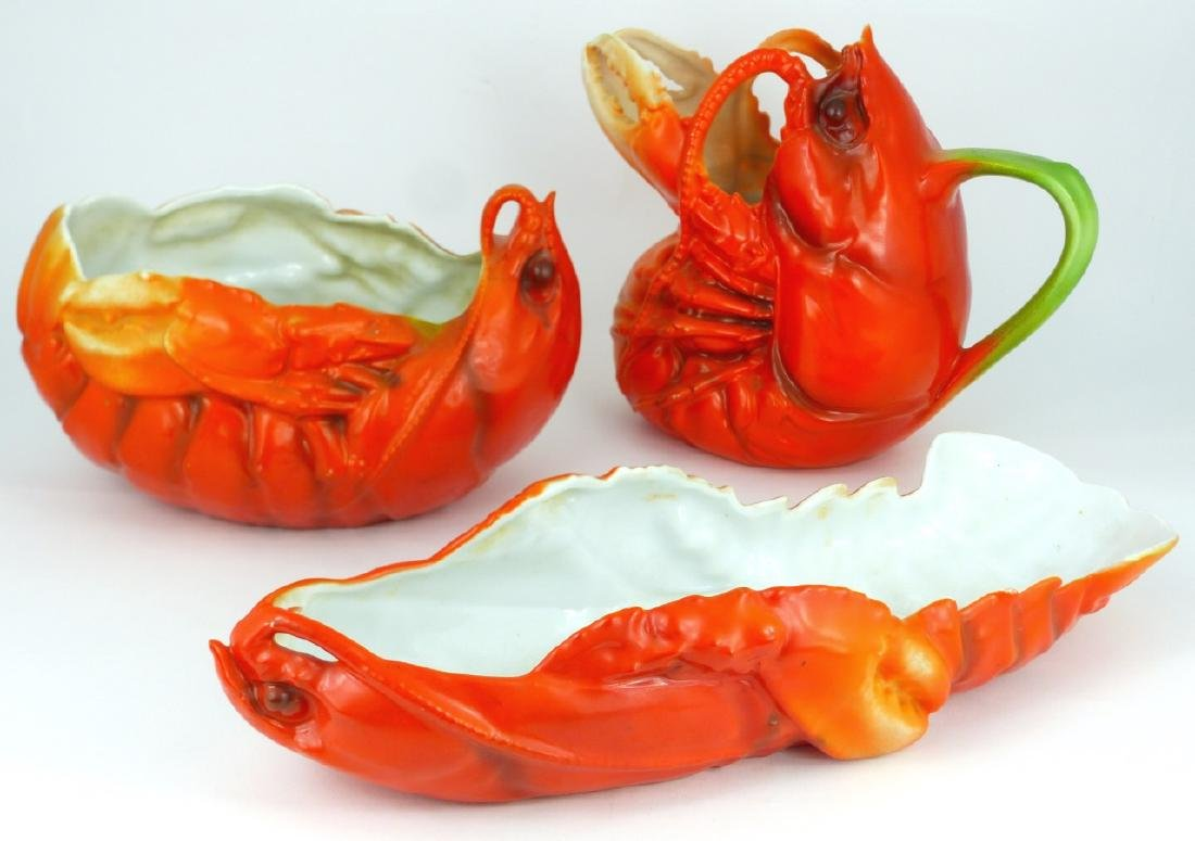 3pc ROYAL BAYREUTH 'LOBSTER' SERVING PIECES
