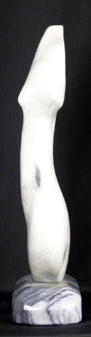 R.T. MORGAN NUDE FEMALE TORSO MARBLE SCULPTURE - 5
