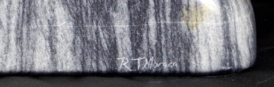 R.T. MORGAN NUDE FEMALE TORSO MARBLE SCULPTURE - 7
