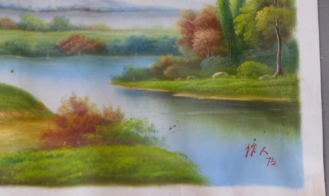 LANDSCAPE OIL PAINTING ON CANVAS AFTER WU ZUOREN - 4