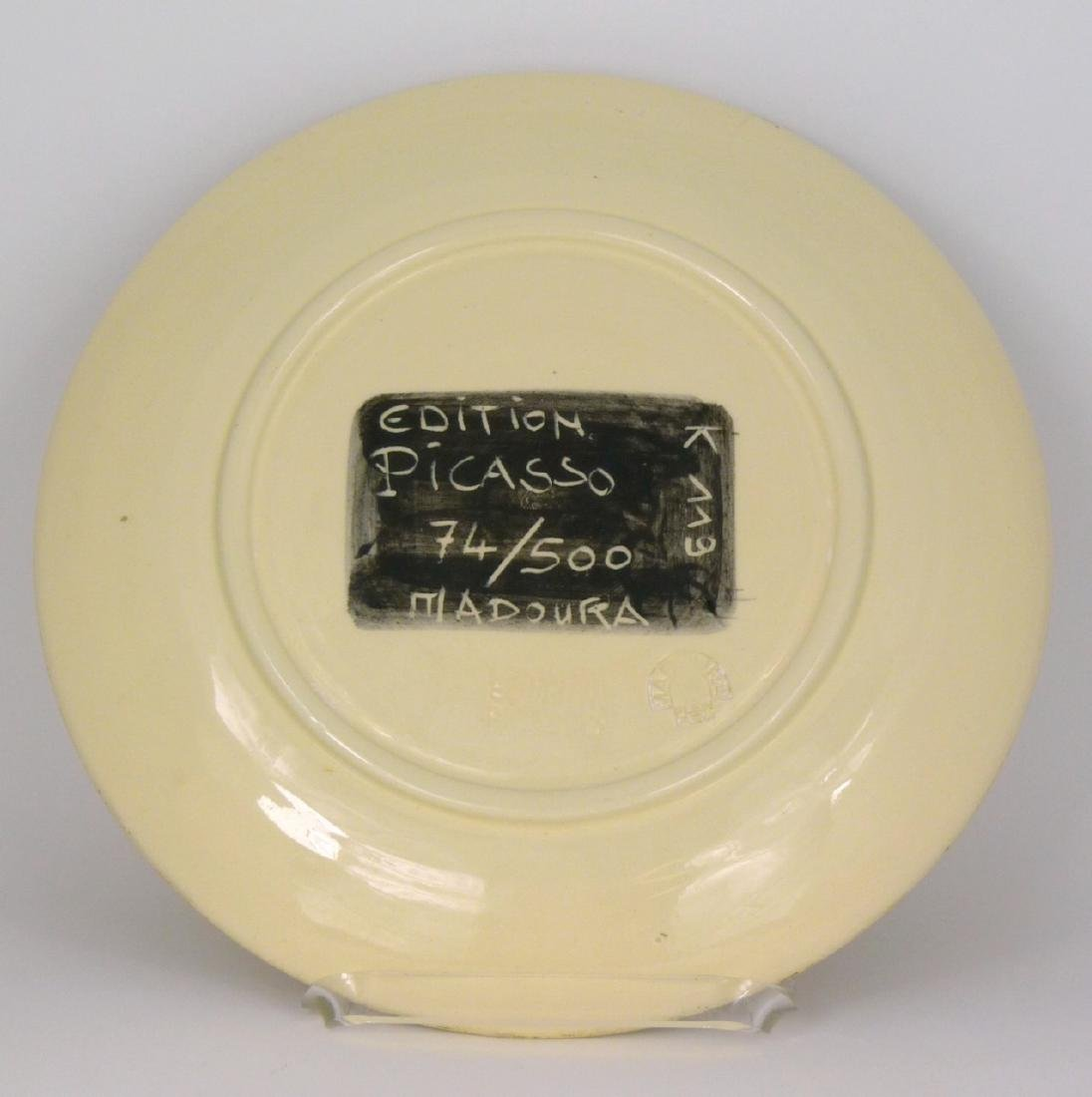 PICASSO 'MOTIF SPIRALE' MADOURA PLATE 74/500 - 2