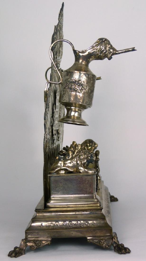 ANTIQUE GERMAN 800 SILVER HANUKKAH MENORAH - 10