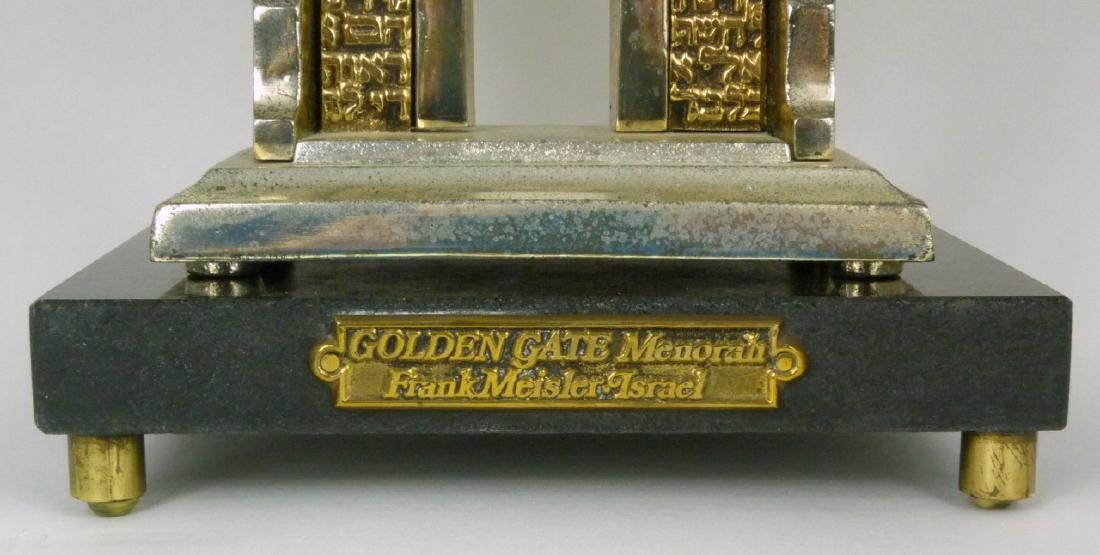 FRANK MEISLER 'GOLDEN GATE MENORAH' SCULPTURE - 10