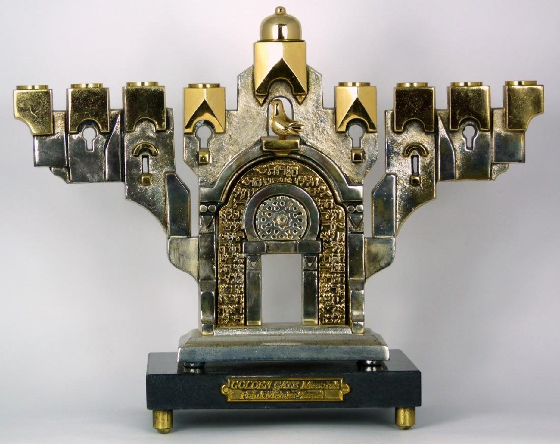 FRANK MEISLER 'GOLDEN GATE MENORAH' SCULPTURE