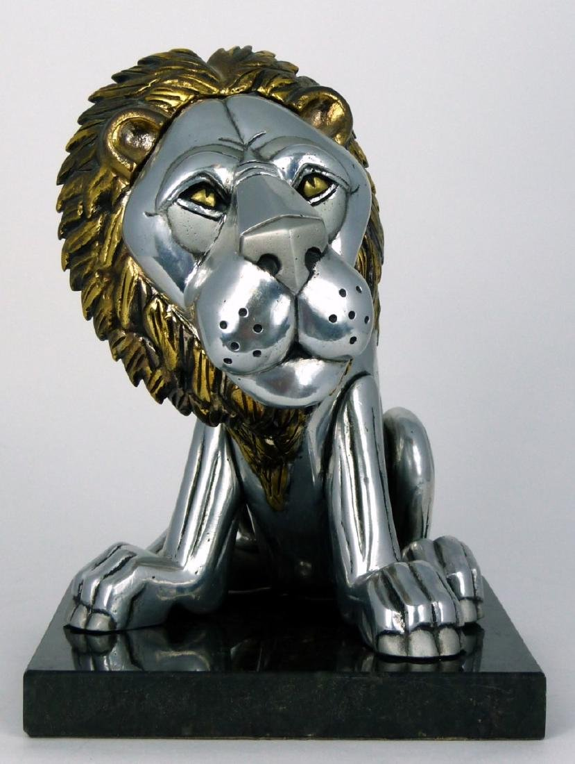 FRANK MEISLER 'SITTING LION' METAL SCULPTURE