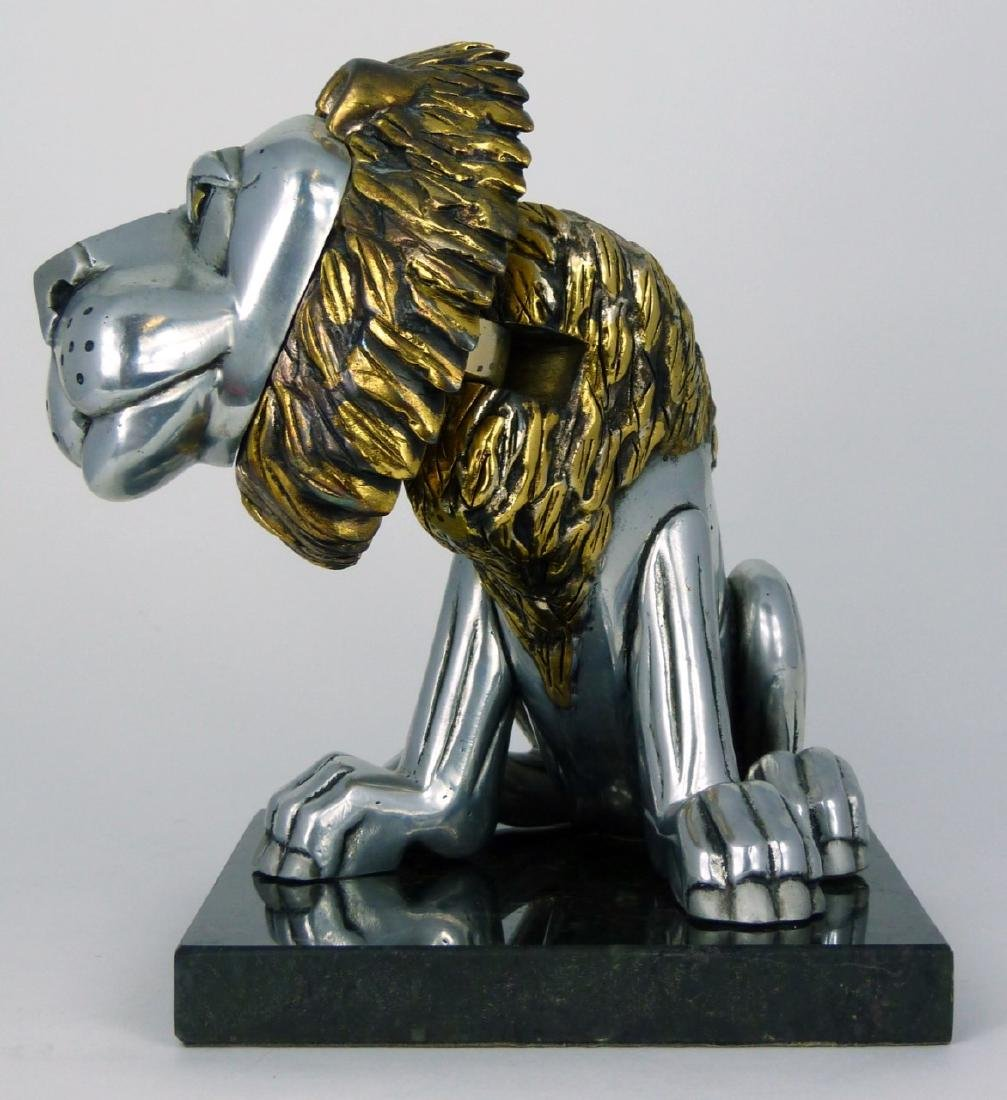 FRANK MEISLER 'SITTING LION' METAL SCULPTURE - 2
