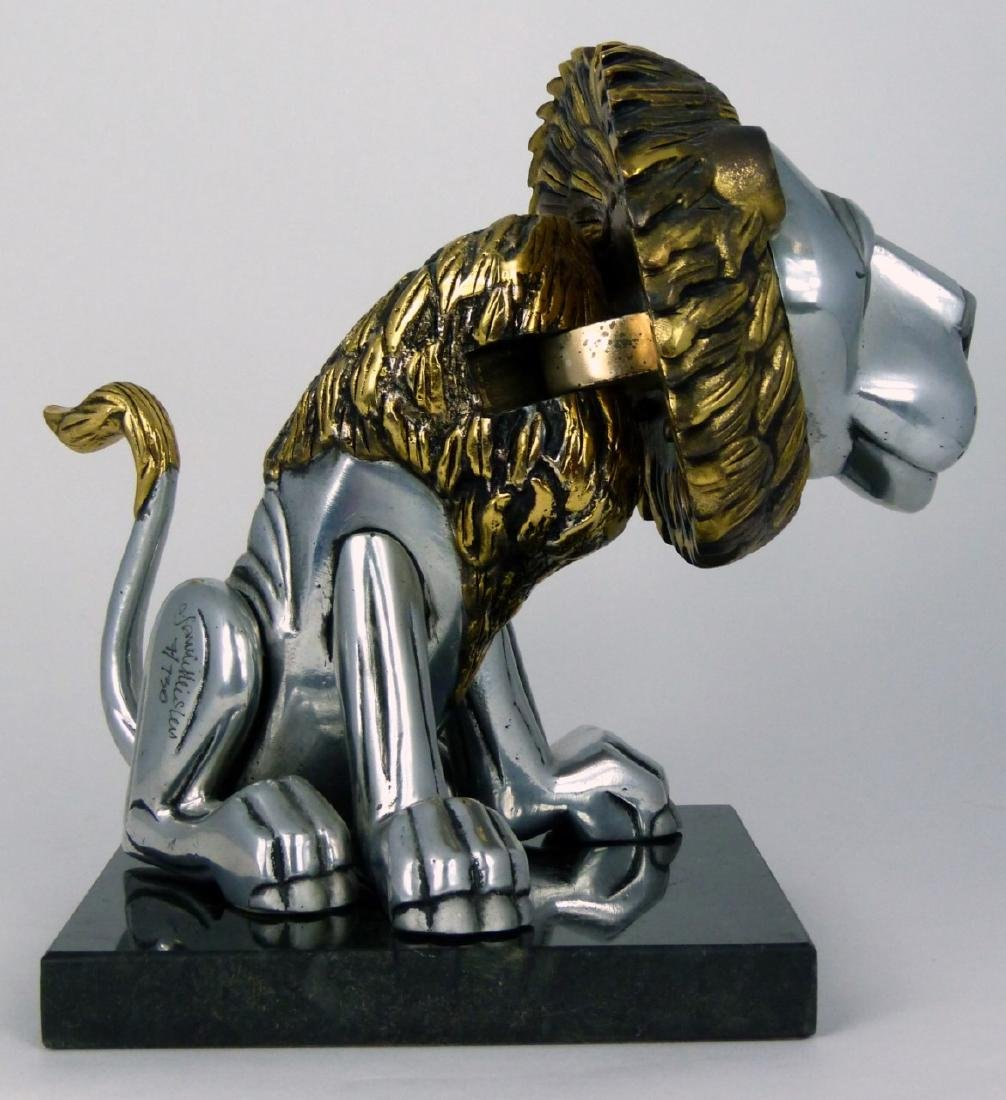 FRANK MEISLER 'SITTING LION' METAL SCULPTURE - 6