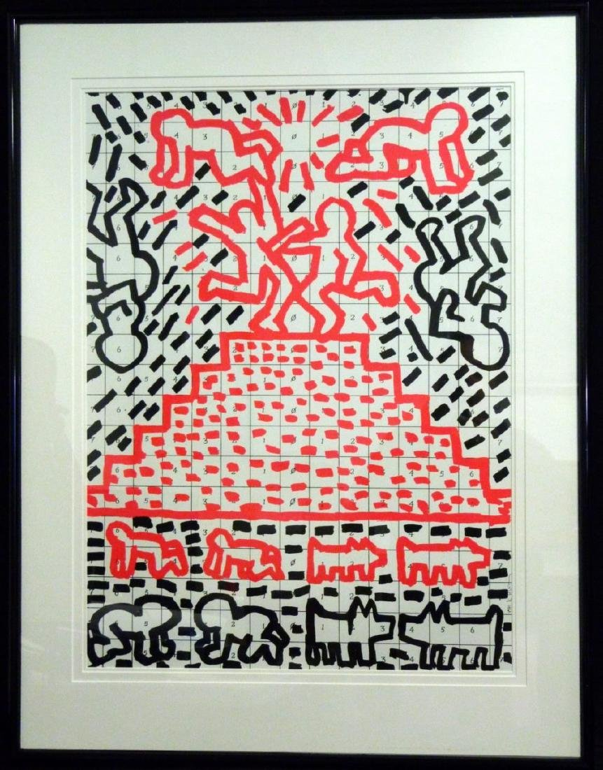 KEITH HARING OFFSET LITHOGRAPH 1981