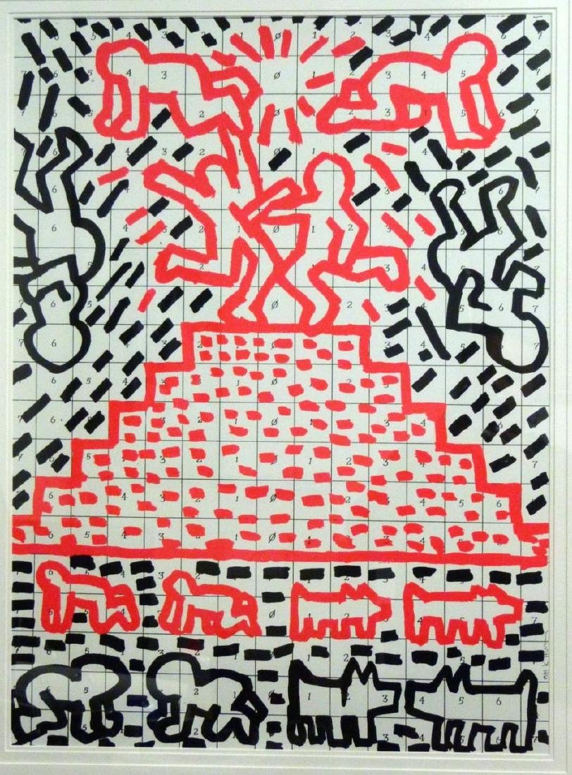 KEITH HARING OFFSET LITHOGRAPH 1981 - 2