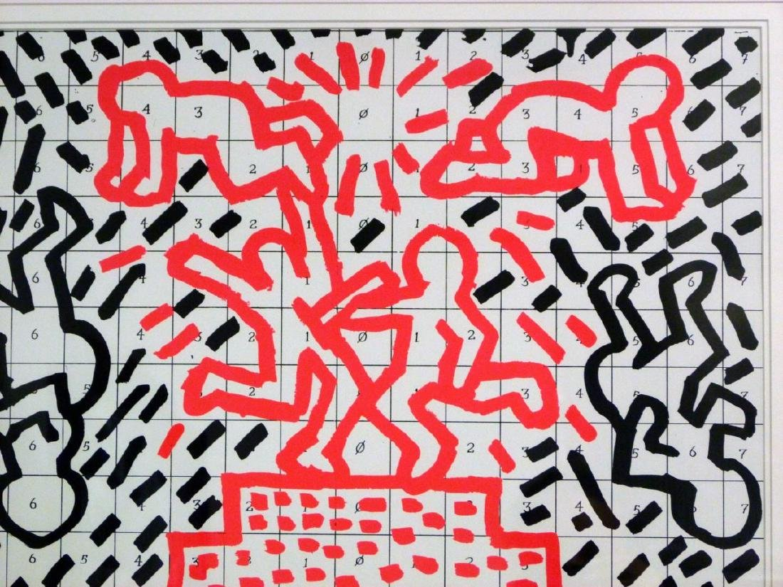 KEITH HARING OFFSET LITHOGRAPH 1981 - 3