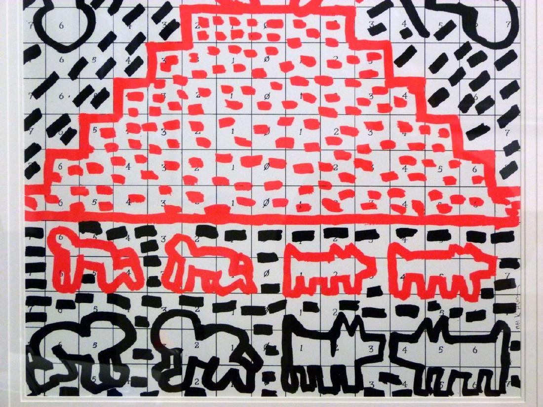 KEITH HARING OFFSET LITHOGRAPH 1981 - 4