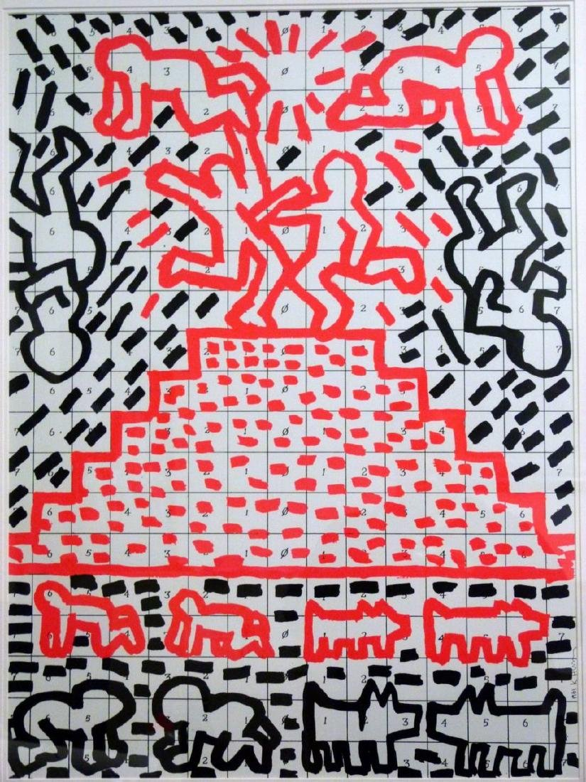 KEITH HARING OFFSET LITHOGRAPH 1981 - 5