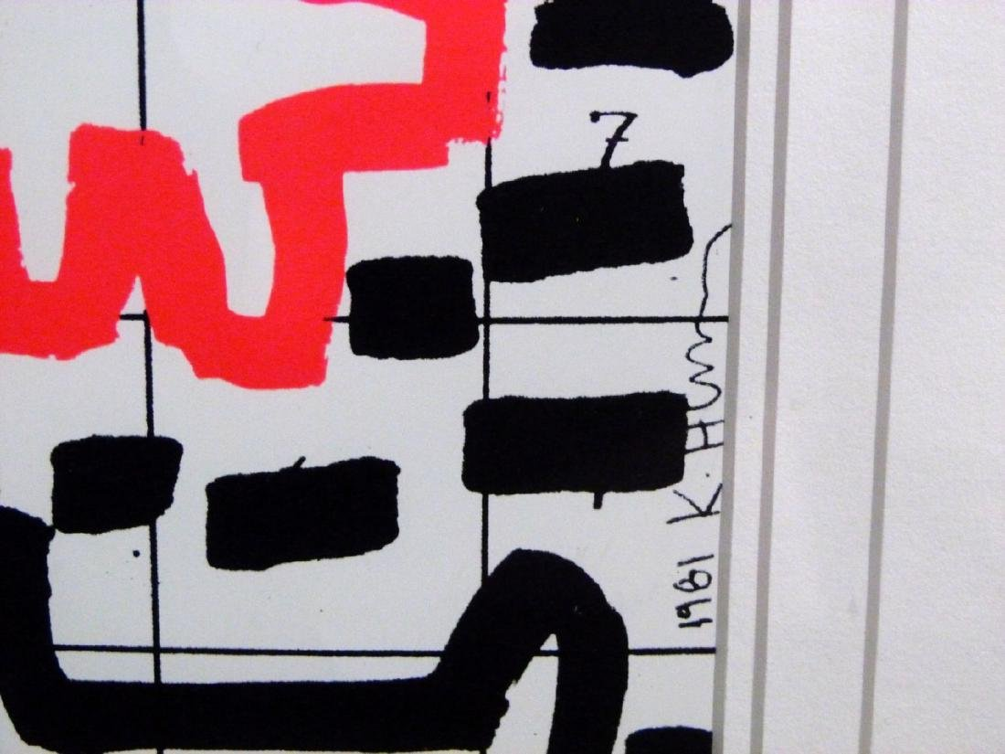 KEITH HARING OFFSET LITHOGRAPH 1981 - 6