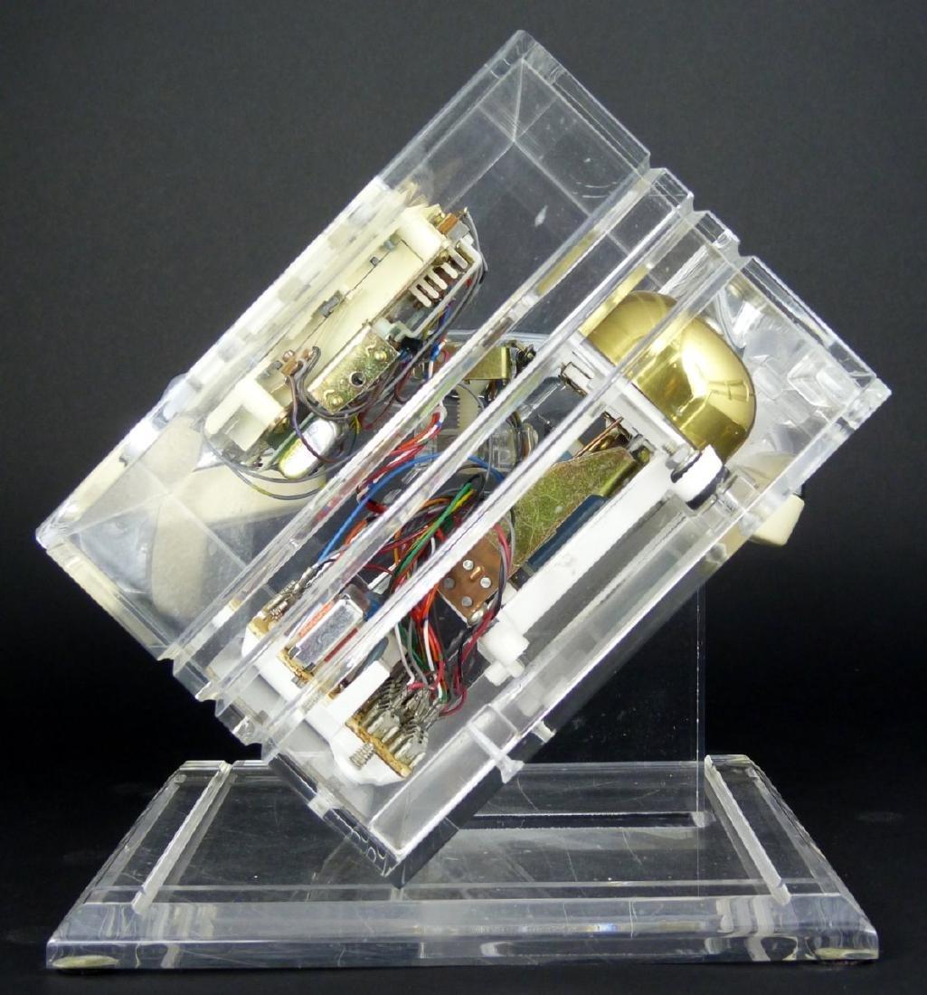 MID-CENTURY MODERN CHROME & LUCITE PHONE - 5