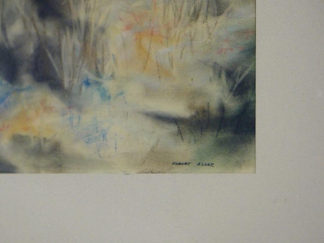 ROBERT ALLER ABSTACT PASTEL ON PAPER - 3