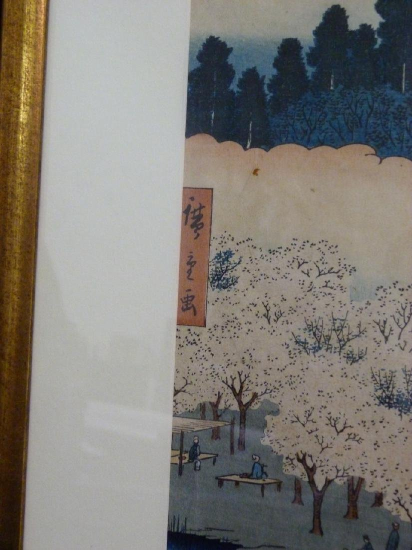 HIROSHIGE 'FLOWER PAVILLION' WOODBLOCK PRINT - 4