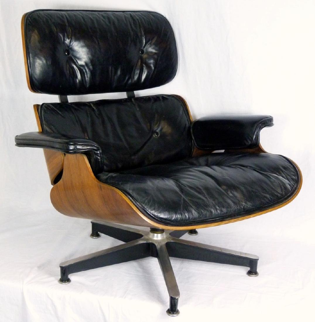 EAMES FOR HERMAN MILLER LOUNGE CHAIR & OTTOMAN - 8