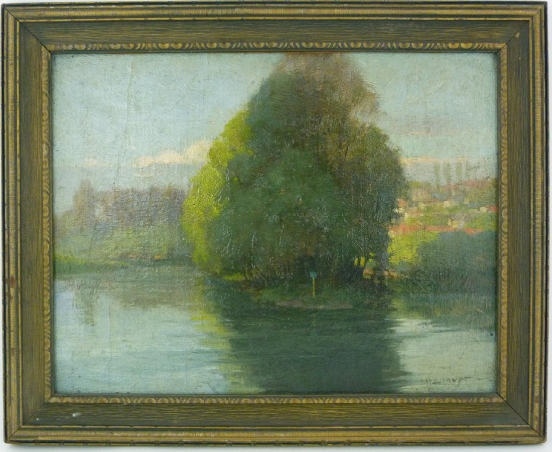 FREDERICK MULHAUPT OIL PAINTING ON BOARD