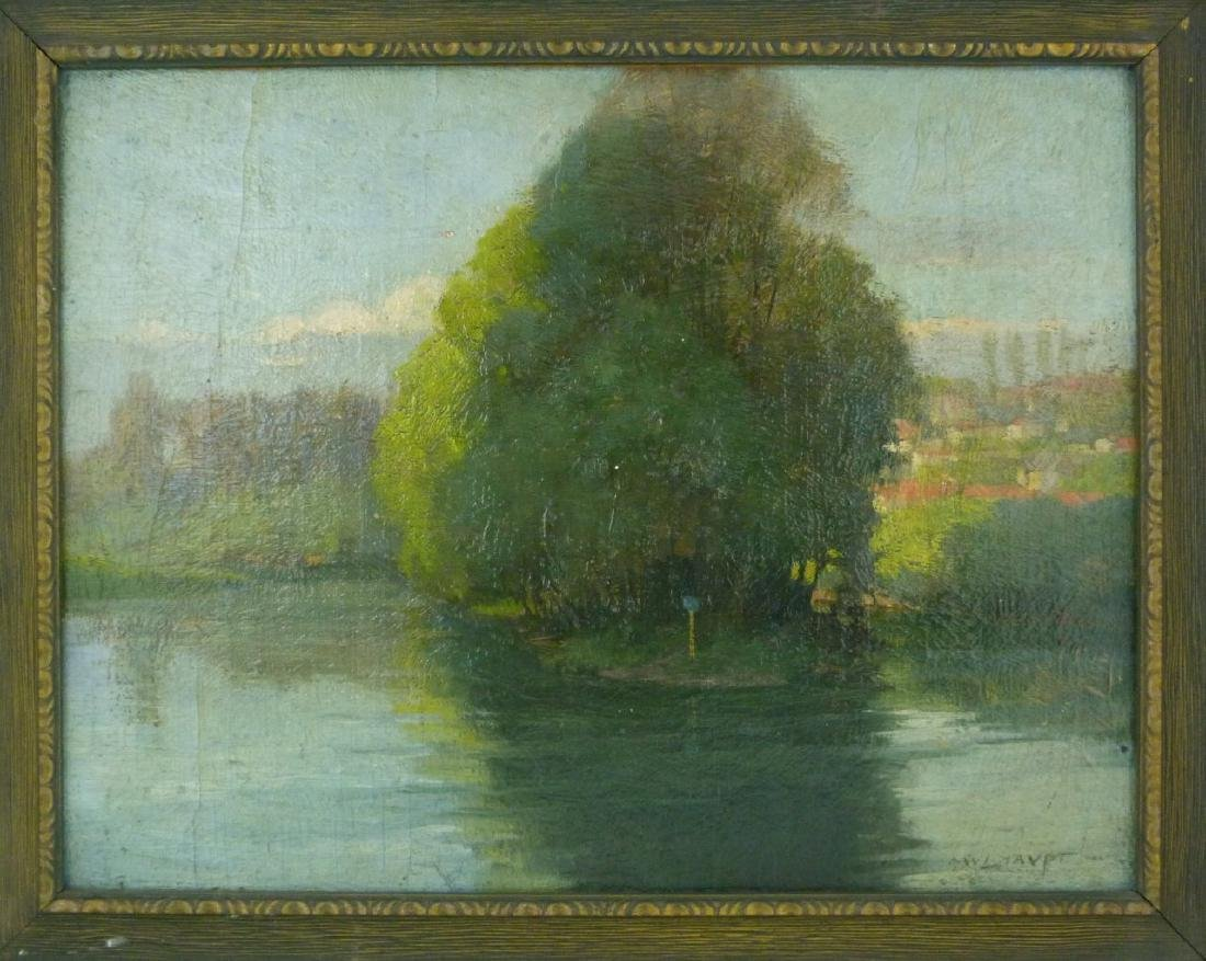 FREDERICK MULHAUPT OIL PAINTING ON BOARD - 2