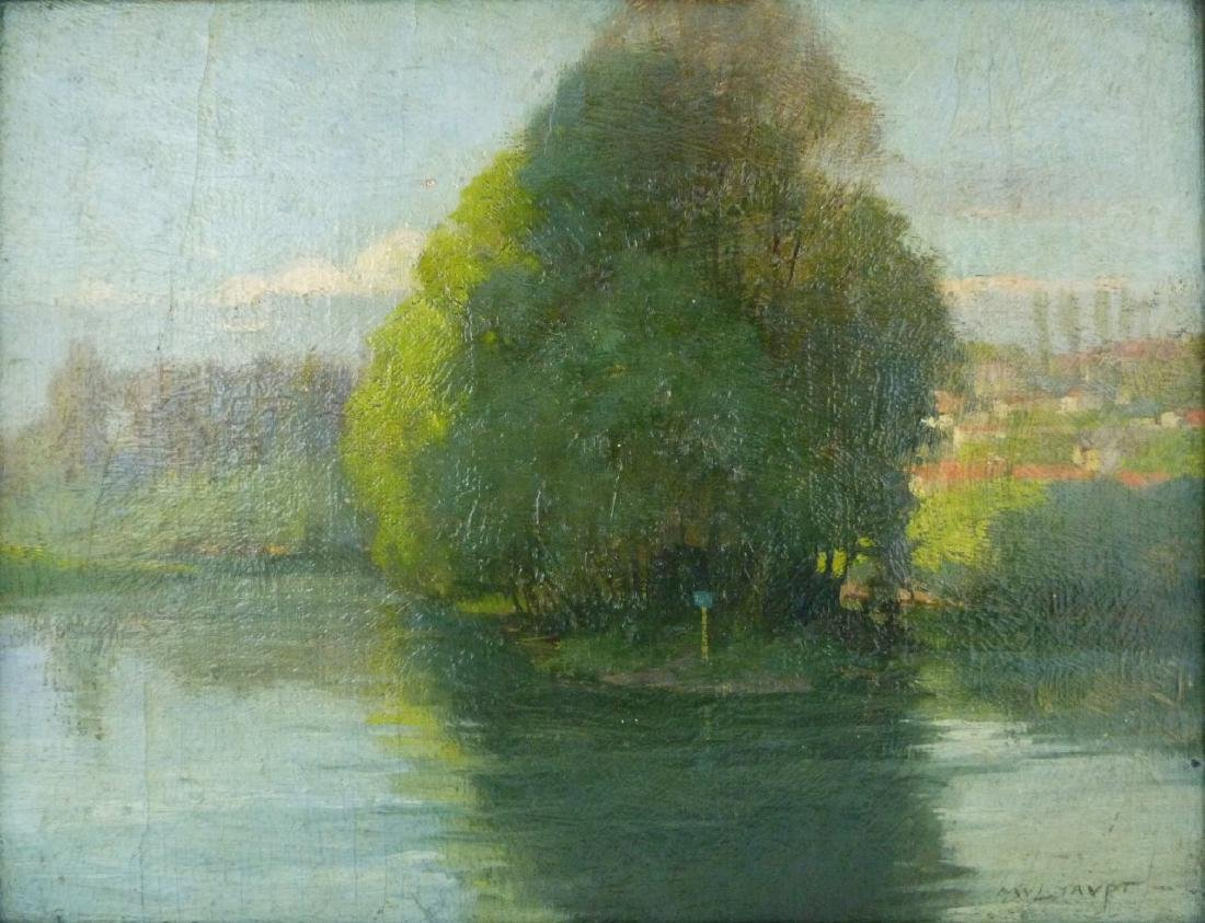 FREDERICK MULHAUPT OIL PAINTING ON BOARD - 3
