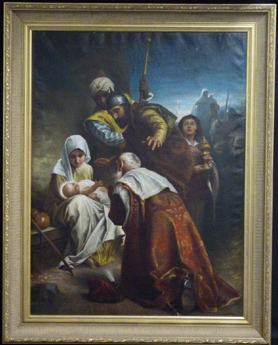 OIL PAINTING ON CANVAS AFTER MURILLO