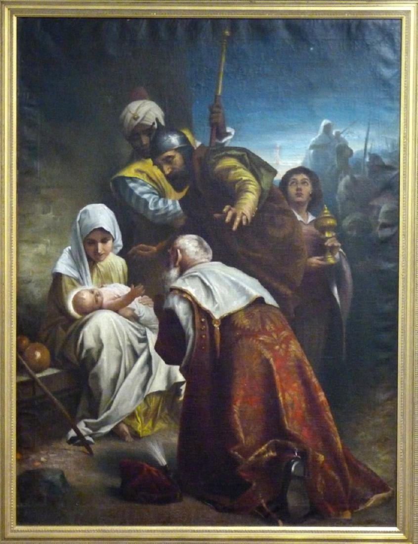 OIL PAINTING ON CANVAS AFTER MURILLO - 2