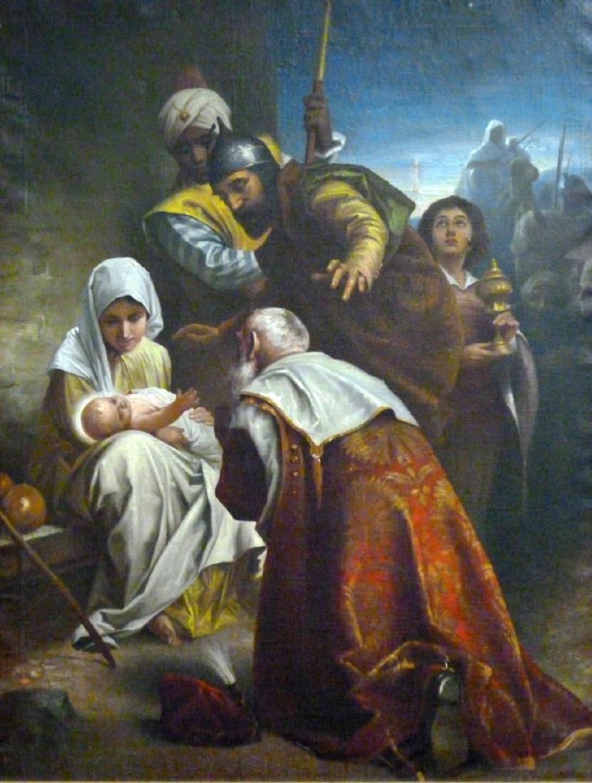 OIL PAINTING ON CANVAS AFTER MURILLO - 3