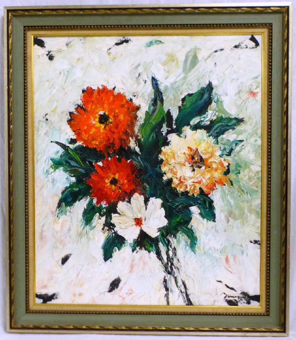 GEORGES BOUSQUET STILL LIFE OIL PAINTING ON CANVAS