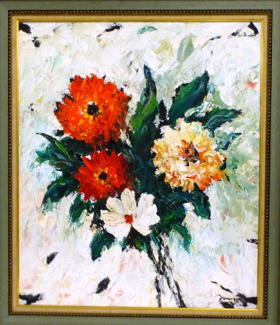 GEORGES BOUSQUET STILL LIFE OIL PAINTING ON CANVAS - 2