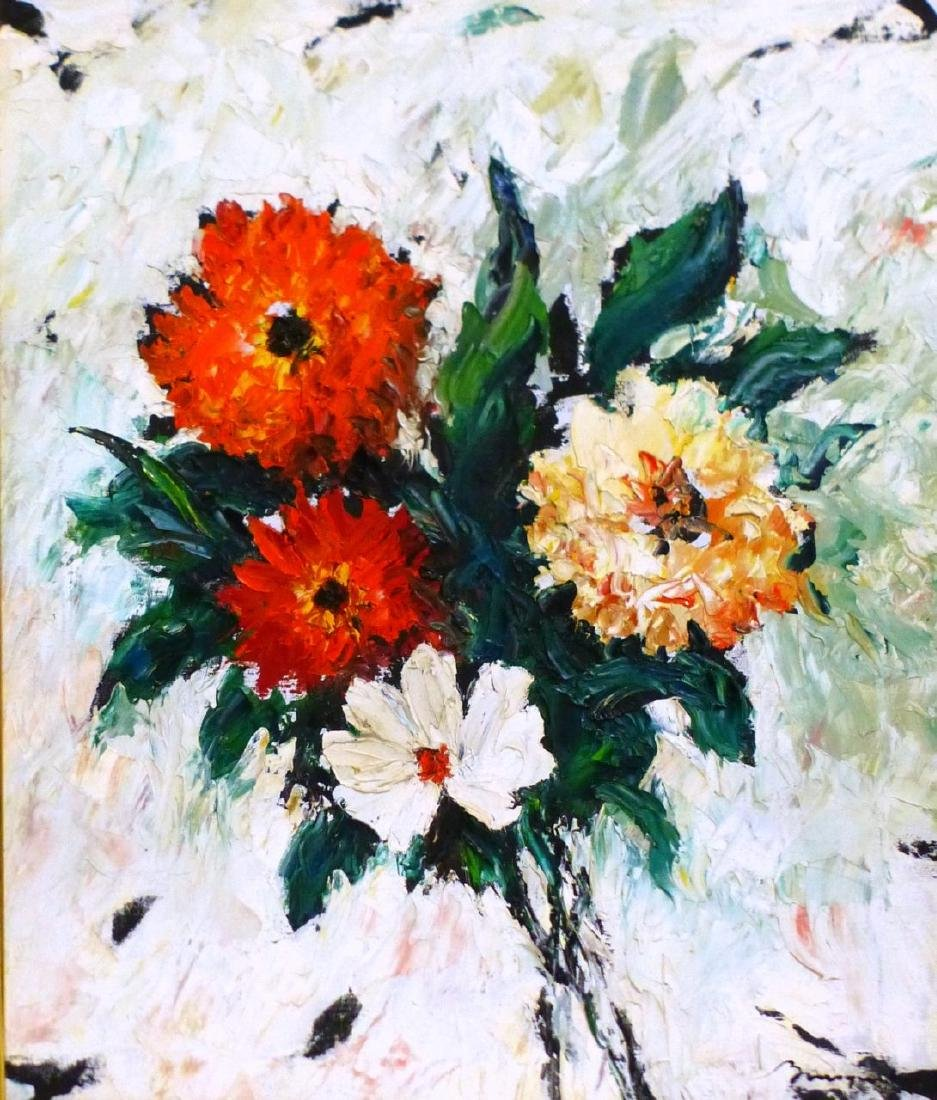 GEORGES BOUSQUET STILL LIFE OIL PAINTING ON CANVAS - 3
