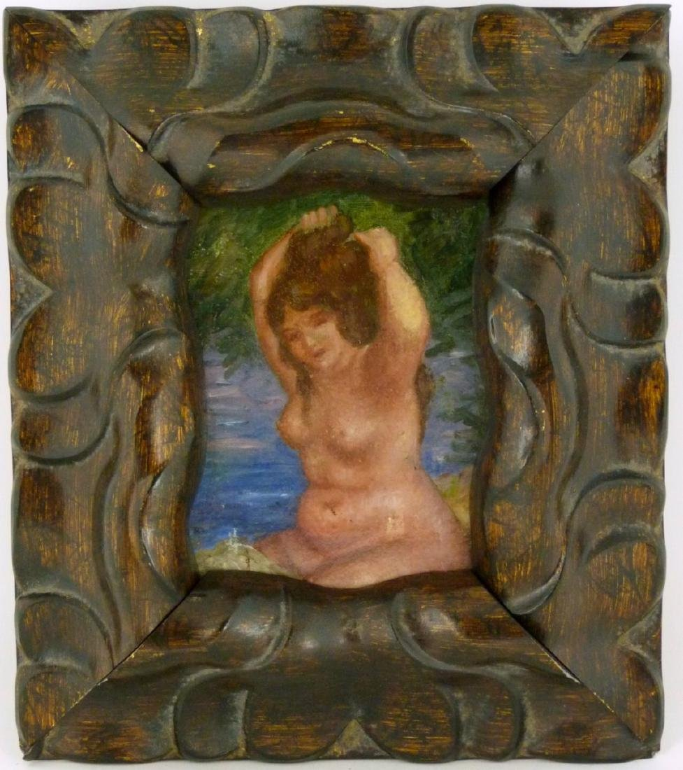 NUDE OIL PAINTING ON CANVAS AFTER RENOIR