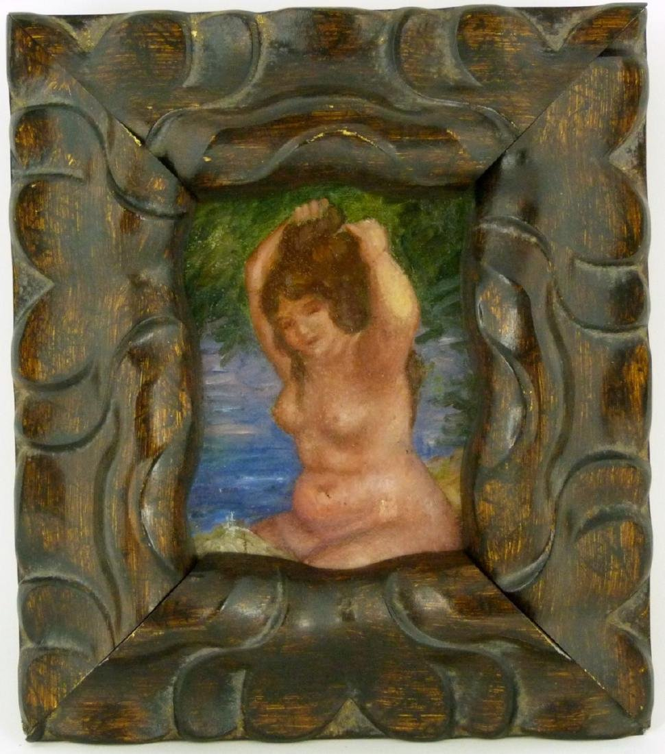 NUDE OIL PAINTING ON CANVAS AFTER RENOIR - 3