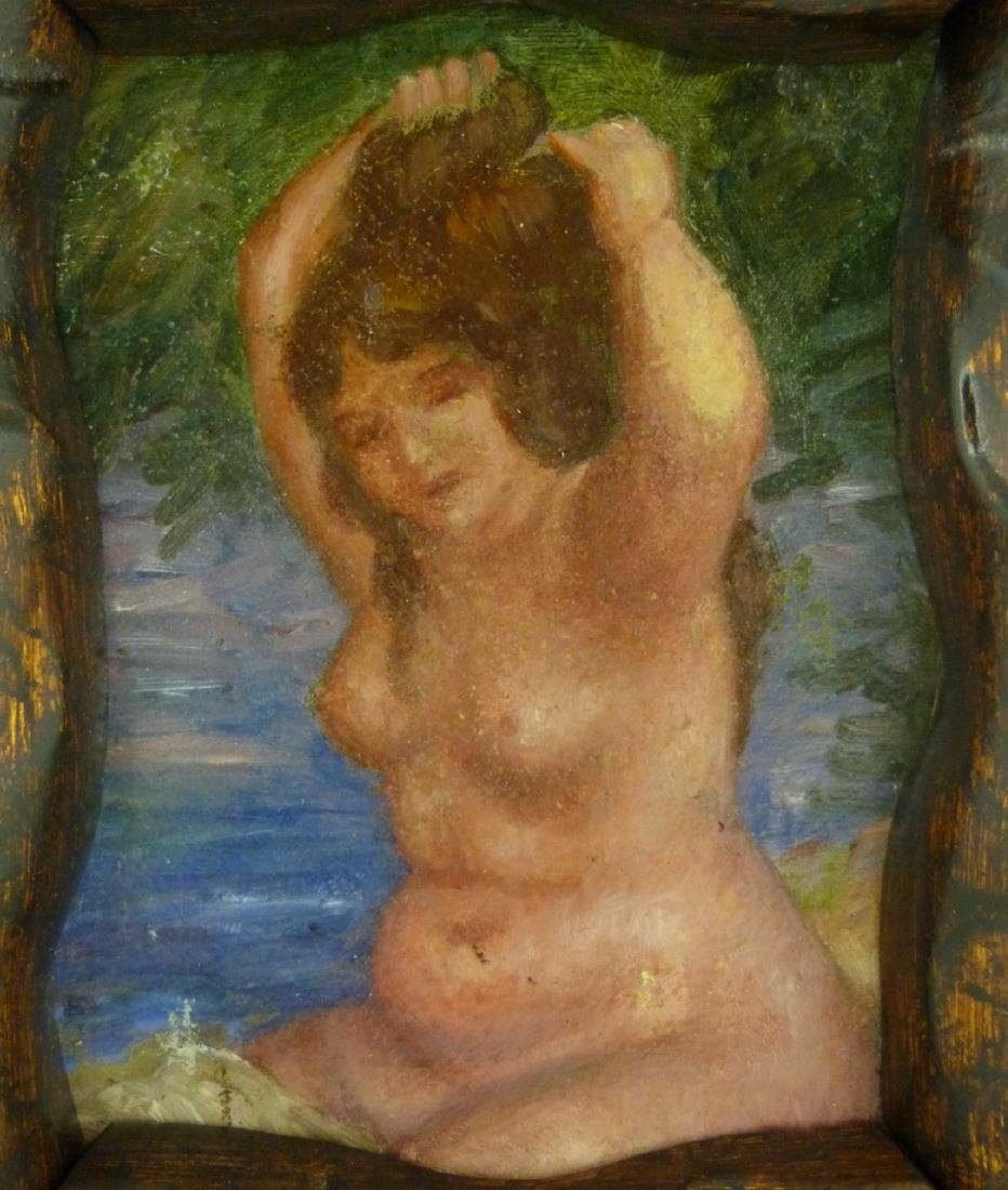 NUDE OIL PAINTING ON CANVAS AFTER RENOIR - 4