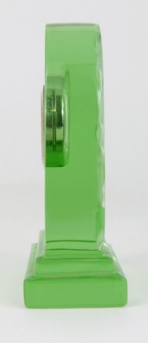 BACCARAT GREEN CRYSTAL DESK CLOCK - 4
