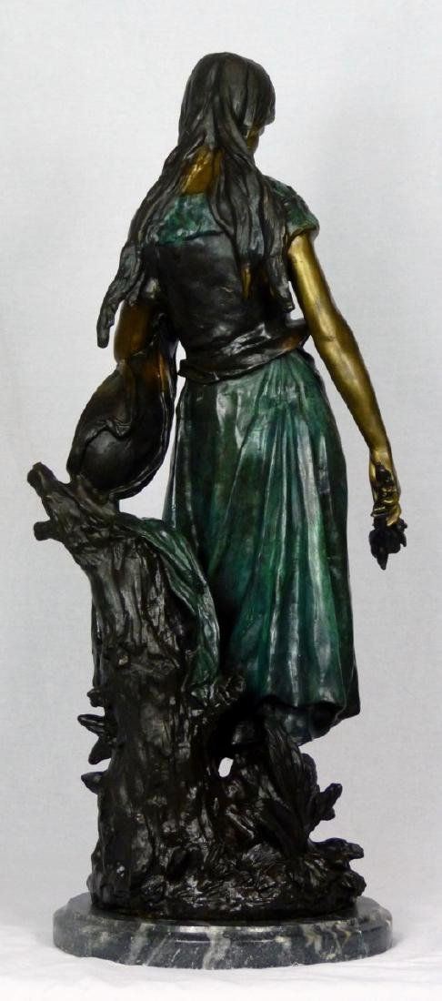 MOREAU 'STANDING MANDOLIN WOMAN' BRONZE SCULPTURE - 2