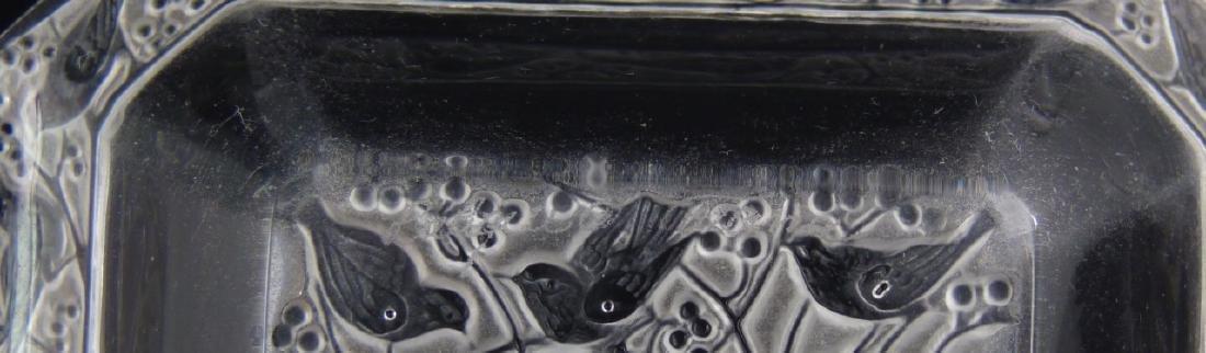 2pc LALIQUE CRYSTAL BORJOIS PERFUME & 'ANNA' TRAY - 7