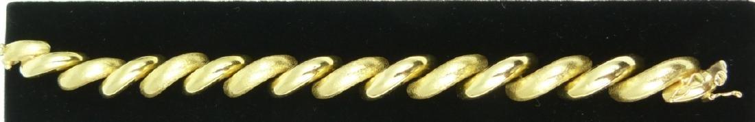 14kt YELLOW GOLD ITALIAN SAN MARCO BRACELET - 2