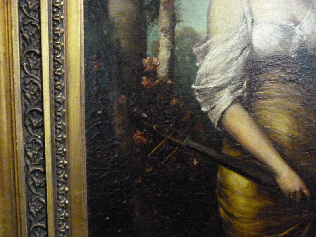 BECKERT 'LADY WITH LUTE' OIL PAINTING ON CANVAS - 6