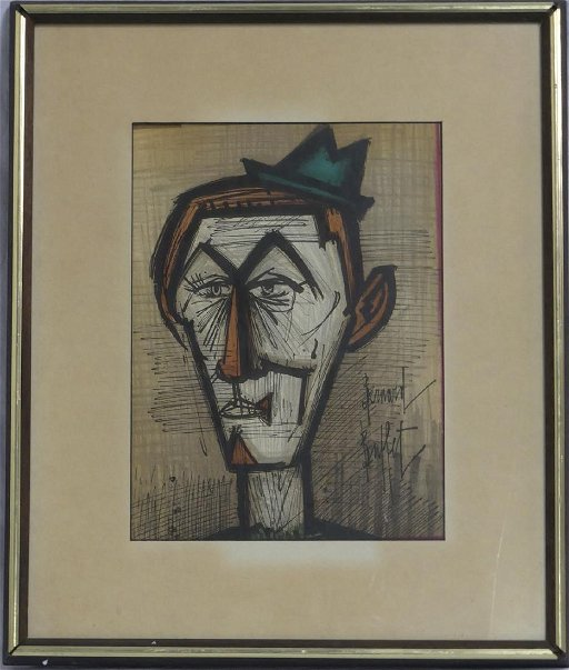 Super Bernard Buffet Clown Lithograph Interior Design Ideas Apansoteloinfo