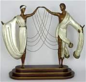 ERTE 'THE WEDDING' BRONZE SCULPTURE