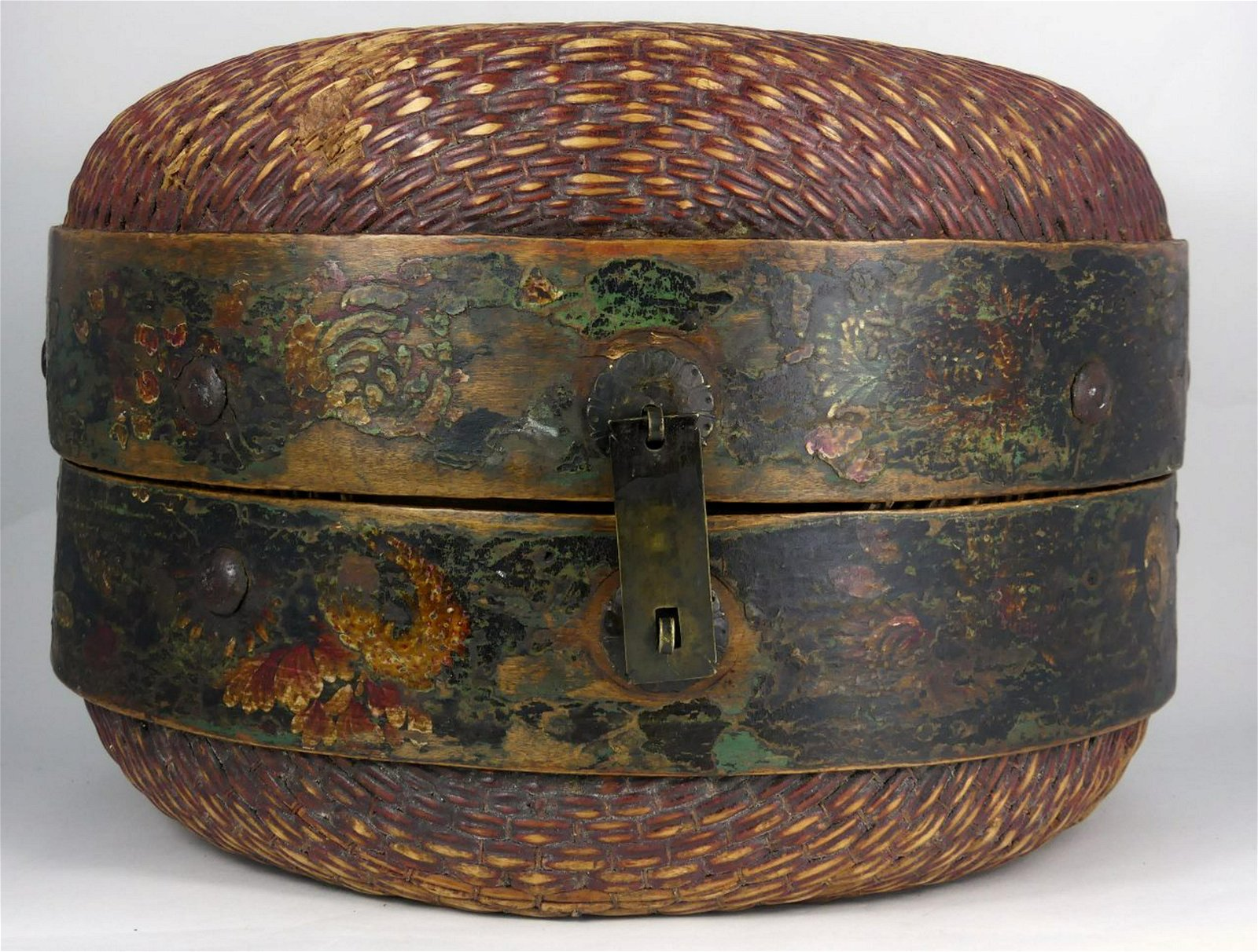 ANTIQUE CHINESE WOVEN BASKET