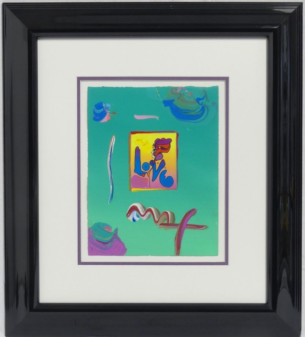 PETER MAX 'LOVE II' ACRYLIC MIXED MEDIA ON PAPER