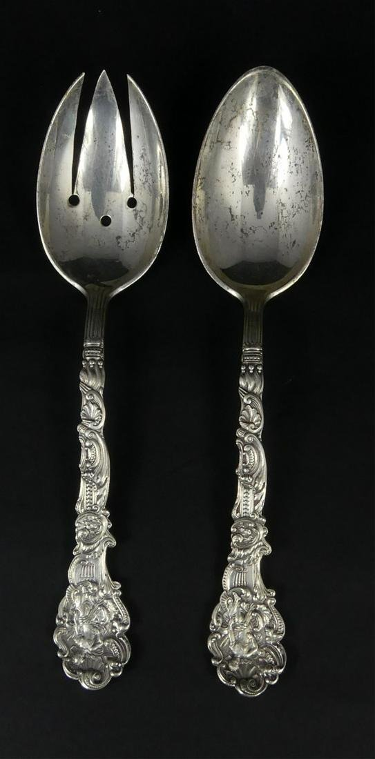 2pc GORHAM 'VERSAILLES' STERLING SERVING ITEMS